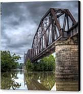 Railroad Bridge Canvas Print by James Barber