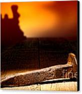 Railroad Spike Canvas Print by Olivier Le Queinec