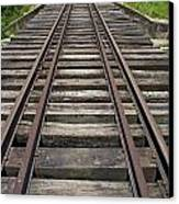 Railroad Tracks Canvas Print by Sami Sarkis
