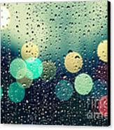 Rain And The City Canvas Print by Beata  Czyzowska Young