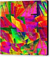 Rainbow Bliss 2 - Twisted - Painterly H Canvas Print by Andee Design