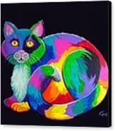 Rainbow Calico Canvas Print by Nick Gustafson