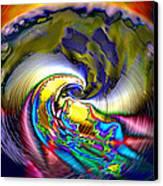 Rainbow Liberty V.5 Canvas Print by Rebecca Phillips