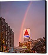 Rainbow Over Fenway Canvas Print by Paul Treseler