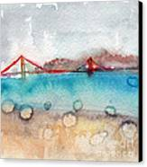 Rainy Day In San Francisco  Canvas Print by Linda Woods