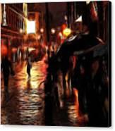 Rainy Day In Soho Canvas Print by Stefan Kuhn