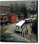 Raleigh Bus Terminal - Evening Canvas Print by Paulette B Wright