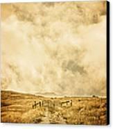Ranch Gate Canvas Print by Edward Fielding