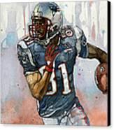 Randy Moss Canvas Print by Michael  Pattison