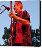 Randy Reis On Bass - The Fabulous Kingpins Canvas Print by David Patterson