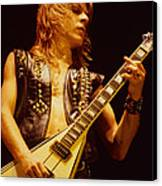Randy Rhoads At The Cow Palace In San Francisco Canvas Print by Daniel Larsen