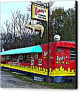 Randy's Roadside Bar-b-que Canvas Print by MJ Olsen