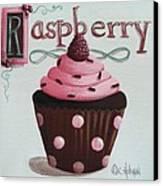 Raspberry Chocolate Cupcake Canvas Print by Catherine Holman