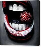 Raspberry Canvas Print by Kalie Hoodhood