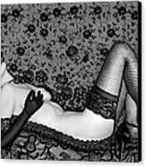 Ravishing Romance - Self Portrait Canvas Print by Jaeda DeWalt