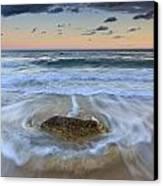 Receding Wave Stormy Seascape Canvas Print by Katherine Gendreau