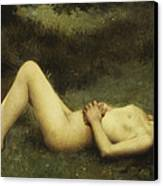 Reclining Nude Canvas Print by Louis Courtat