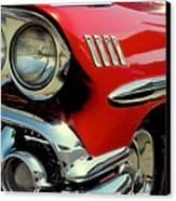 Red 1958 Chevrolet Impala Canvas Print by David Patterson