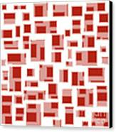 Red Abstract Rectangles Canvas Print by Frank Tschakert