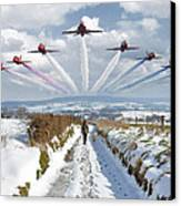 Red Arrows Over Epen Canvas Print by Nop Briex