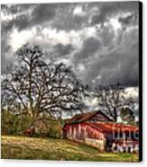 Red Barn On The Boswell Farm Canvas Print by Reid Callaway
