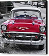 Red Belair At The Beach Standard 11x14 Canvas Print by Edward Fielding