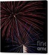Red Blue Fireworks Canvas Print by Jason Meyer