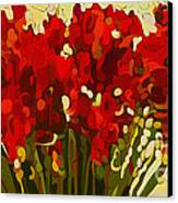 Red Bouquet Canvas Print by Dorinda K Skains