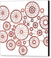 Red Circles Canvas Print by Frank Tschakert