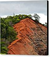 Red Cliff At Waimea Canvas Print by Christi Kraft