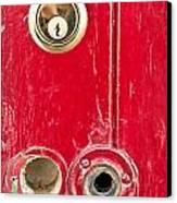 Red Door Lock Canvas Print by Tom Gowanlock