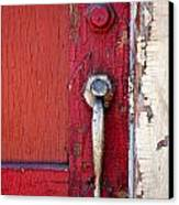 Red Door Canvas Print by Peter Tellone