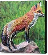 Red Fox Canvas Print by Lorrie T Dunks