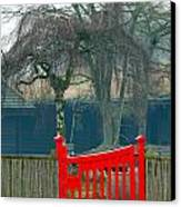 Red Gate Canvas Print by Susan Tinsley