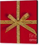 Red Gift With Gold Ribbon Canvas Print by Elena Elisseeva