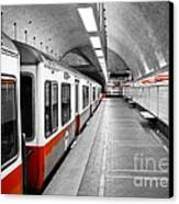 Red Line Canvas Print by Charles Dobbs