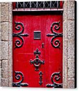 Red Medieval Door Canvas Print by Elena Elisseeva