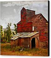 Red Mill Montana Canvas Print by Marty Koch