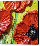 Red Poppies II Canvas Print by Paris Wyatt Llanso