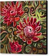 Red Proteas Canvas Print by Jen Norton