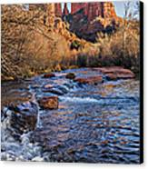 Red Rock Crossing Winter Canvas Print by Mary Jo Allen
