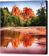 Red Rock State Park - Cathedral Rock Canvas Print by Bob and Nadine Johnston