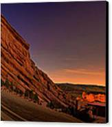 Red Rocks Amphitheatre At Night Canvas Print by James O Thompson