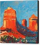 Red Rocks At Sedona Canvas Print by Micheal Jones
