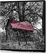 Red Roof Canvas Print by Debra and Dave Vanderlaan