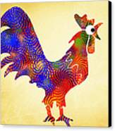 Red Rooster Art Canvas Print by Christina Rollo