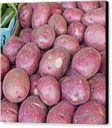 Red Skin Potatoes Stall Display Canvas Print by JPLDesigns
