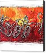 Red Splash Triathlon Canvas Print by Alejandro Maldonado
