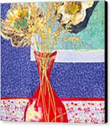 Red Vase I Canvas Print by Diane Fine