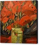 Red Velvet Canvas Print by Louise Burkhardt